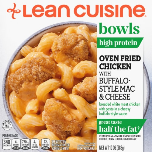 Lean Cuisine Bowls Oven Fried Buffalo Chicken Mac and Cheese Frozen Entrée Perspective: front