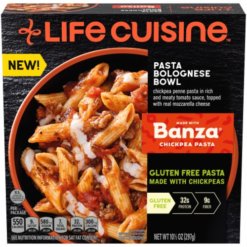 Life Cuisine™ Pasta Bolognese Bowl Frozen Meal Perspective: front