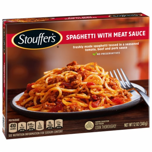 Stouffer's Spaghetti with Meat Sauce Frozen Meal Perspective: front