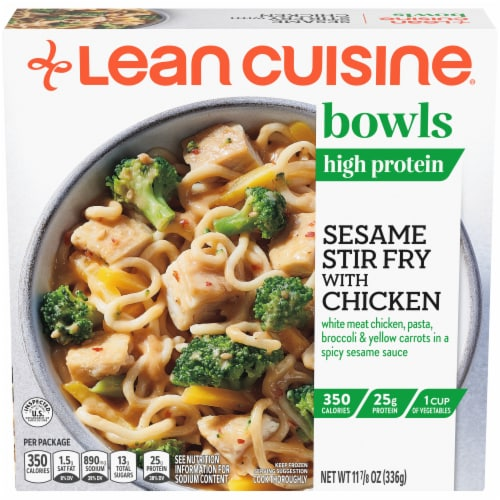 Lean Cuisine Bowls Sesame Stir Fry with Chicken Frozen Meal Perspective: front