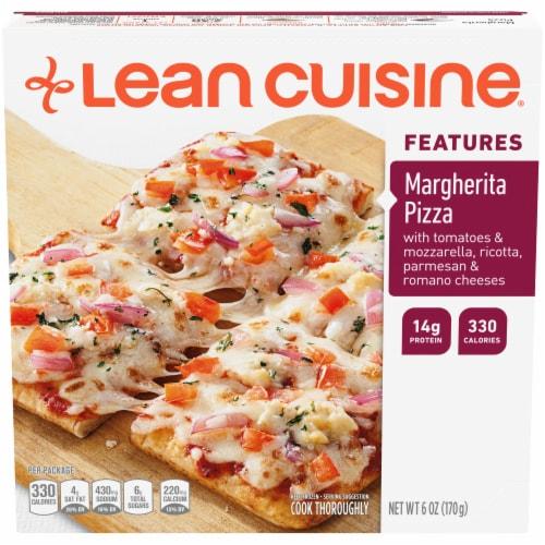 Lean Cuisine Features Margherita Frozen Pizza Perspective: front