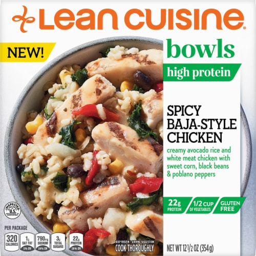 Lean Cuisine Spicy Baja Style Chicken Bowl Frozen Meal Perspective: front