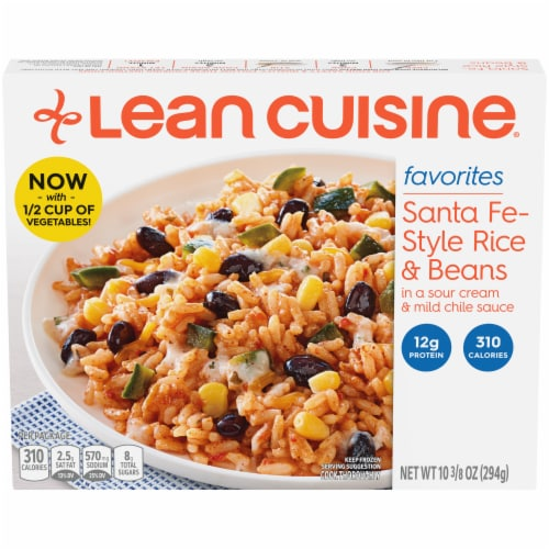 Lean Cuisine Favorites Santa Fe Style Rice & Beans Frozen Meal Perspective: front