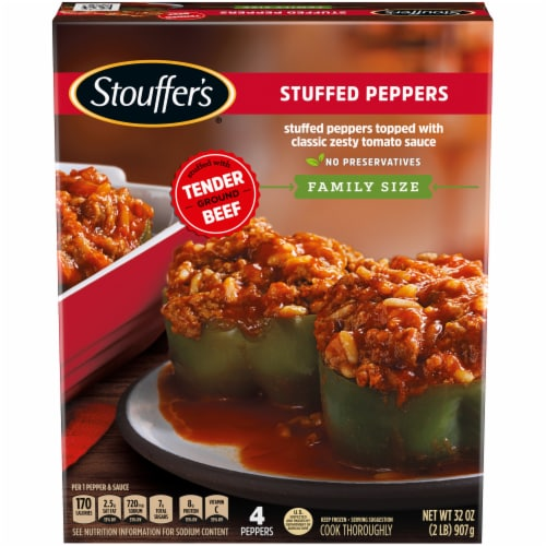 Stouffer's Classics Stuffed Peppers Family Size 4 Count Perspective: front