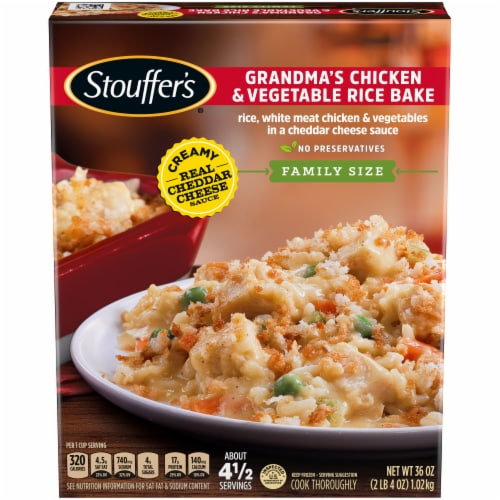 Stouffer's Classics Grandma's Chicken & Vegetable Rice Bake Frozen Meal Family Size Perspective: front