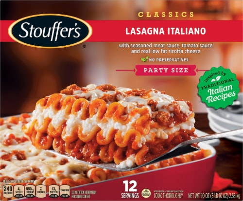 Stouffer's Party Size Lasagna Italiano Frozen Meal Perspective: front