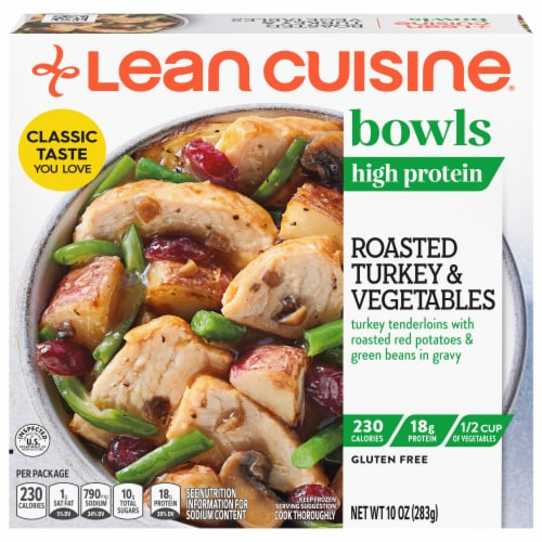 Lean Cuisine Bowls Roasted Turkey and Vegetables Frozen Meal Perspective: front