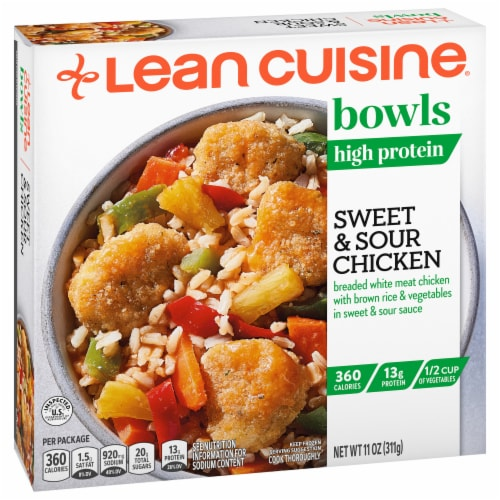 Lean Cuisine Sweet & Sour Chicken Bowl Frozen Meal Perspective: front