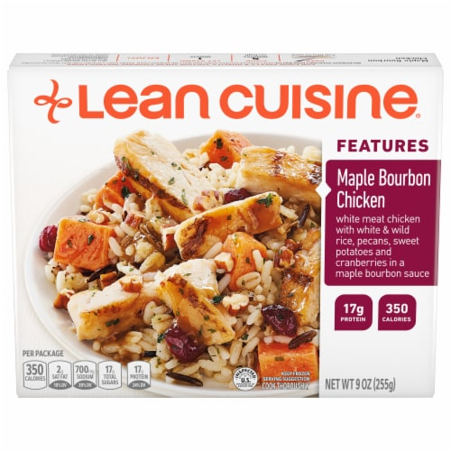 Lean Cuisine Features Maple Bourbon Chicken Frozen Meal Perspective: front