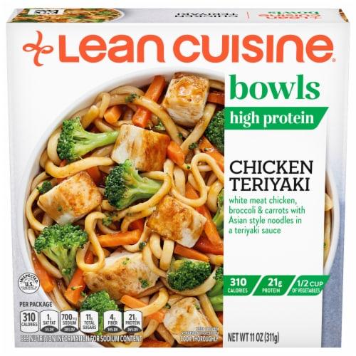 Lean Cuisine Bowls Chicken Teriyaki Frozen Meal Perspective: front