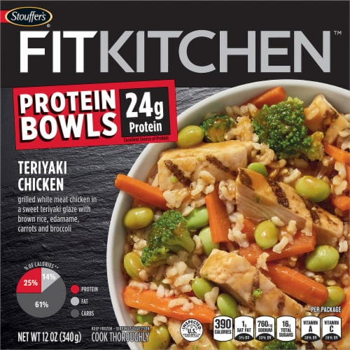 Stouffer's Fit Kitchen Bowls Teriyaki Chicken Bowl Frozen Meal Perspective: front