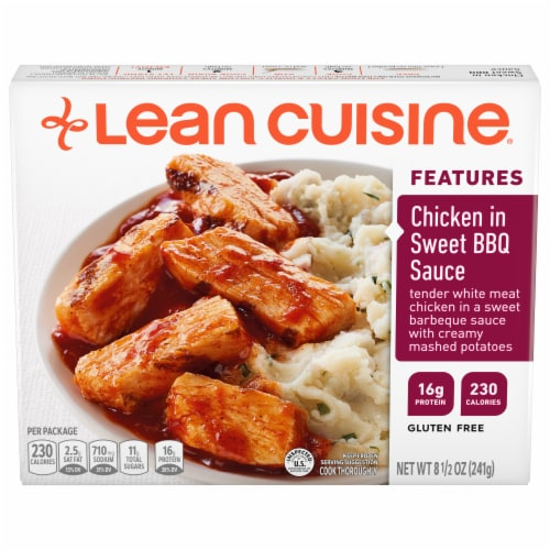 Lean Cuisine Features Chicken in Sweet BBQ Sauce Frozen Meal Perspective: front