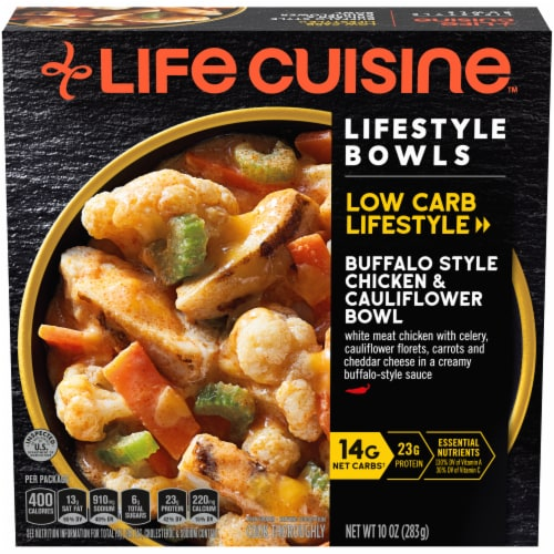 Life Cuisine Buffalo Style Chicken & Cauliflower Bowl Frozen Meal Perspective: front