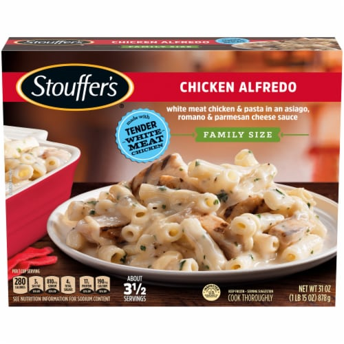 Stouffer's Chicken Alfredo Family Size Frozen Meal Perspective: front