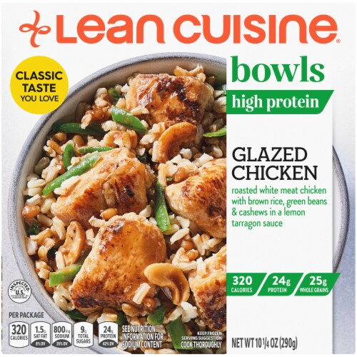 Lean Cuisine Bowls High Protein Glazed Chicken Frozen Meal Perspective: front