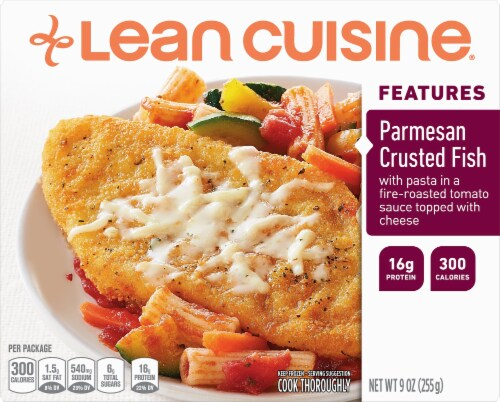 Lean Cuisine Features Parmesan Crusted Fish Frozen Meal Perspective: front
