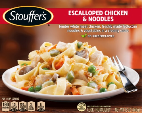 Stouffer's Classics Escalloped Chicken & Noodles Frozen Meal Perspective: front
