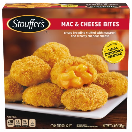 Stouffer's Mac & Cheese Bites Frozen Appetizer Perspective: front