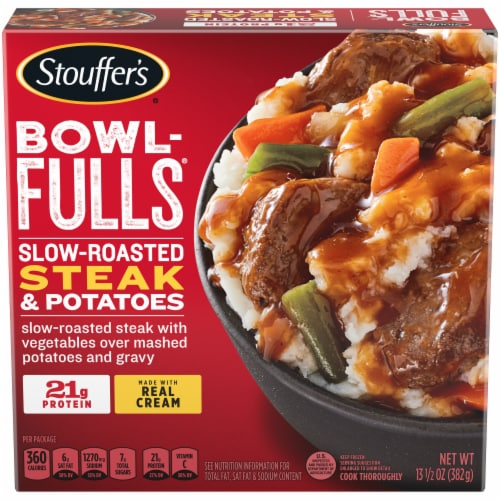 Stouffer's Bowl-Fulls Slow-Roasted Steak & Potatoes Frozen Meal Perspective: front