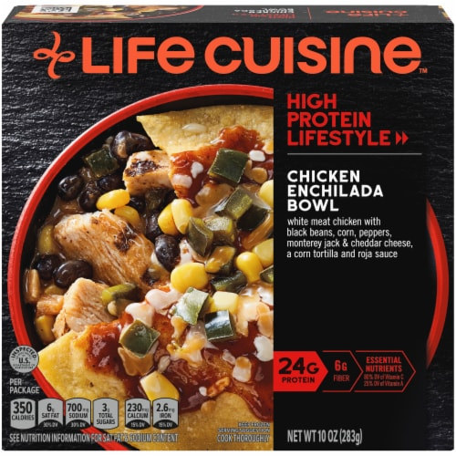 Life Cuisine High Protein Lifestyle Chicken Enchilada Bowl Frozen Meal Perspective: front