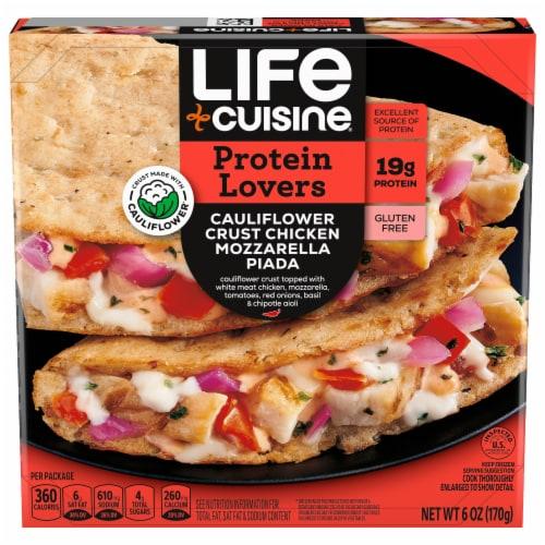 Life Cuisine™ Cauliflower Crust Chicken Mozzarella Piada Frozen Meal Perspective: front