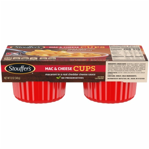 Stouffer's Mac & Cheese Cups Frozen Meal Perspective: front