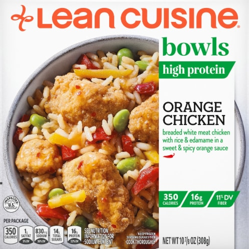 Lean Cuisine Bowls Orange Chicken Frozen Meal Perspective: front