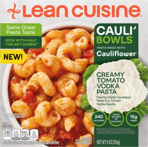 Lean Cuisine Cauli'Bowls Creamy Tomato Cauliflower Vodka Pasta Frozen Meal Perspective: front