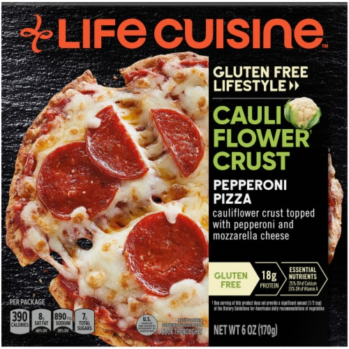 Life Cuisine Pepperoni Frozen Cauliflower Crust Pizza Perspective: front