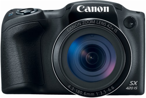 Canon PowerShot SX420 IS 20MP Digital Camera - Black Perspective: front