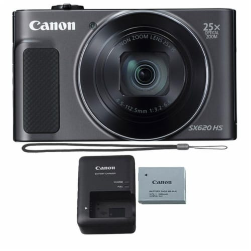 Canon Powershot Sx620 Hs 20.2mp Digital Camera - Black Perspective: front