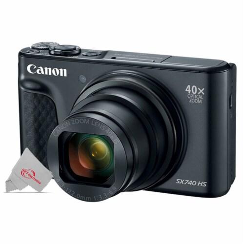 Canon Powershot 40x Zoom Wifi Digital Camera - Black Perspective: front