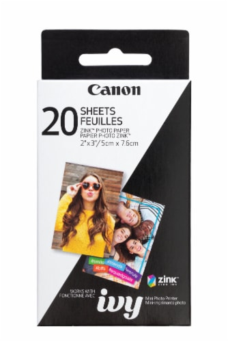 Canon Zink Mini Photo Printer Paper - 20 Sheets Perspective: front