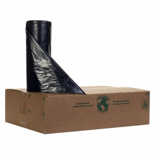 Noramco RT-3858-XXH Recycled Trash Bag Liner  Black - 38 x 58 in. Perspective: front
