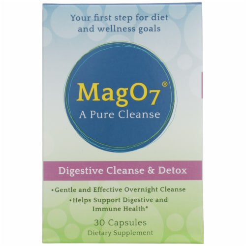 Aerobic Life Mag O7 Digestive Cleanse & Detox Dietary Supplement Capsules Perspective: front