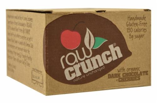 Raw Crunch Dark Chocolate & Cherries Bars Perspective: front