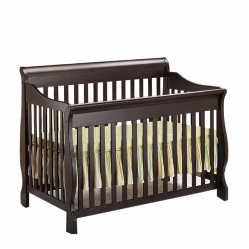 Orbelle Trading 314ES Orbelle Trading Sleigh Crib, Espresso Perspective: front