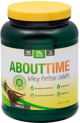 AboutTime Vanilla Whey Protein Isolate Perspective: front