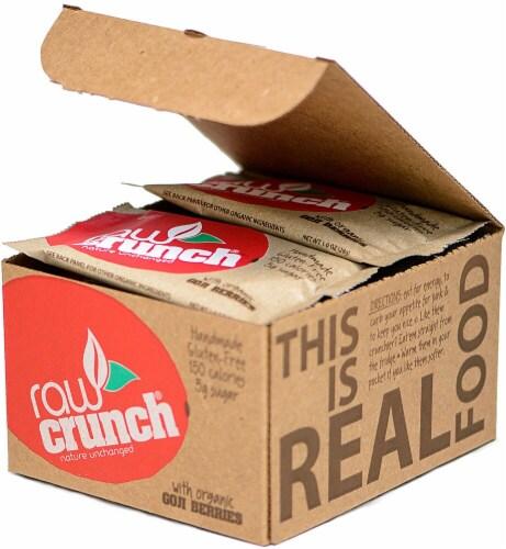 Raw Crunch  Bars   Organic Goji Berries Perspective: front