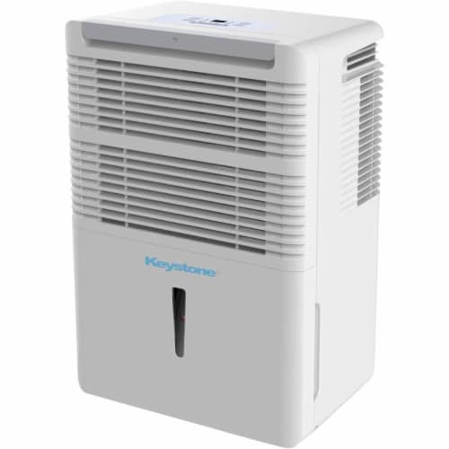 Keystone 30-Pint Dehumidifier with Electronic Controls in White Perspective: front