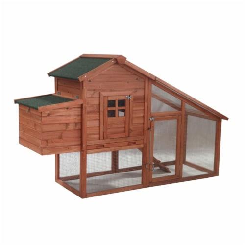 Aleko ACCRH75X26X46-UNB Chicken Coop Rabbit Hutch Cage Perspective: front