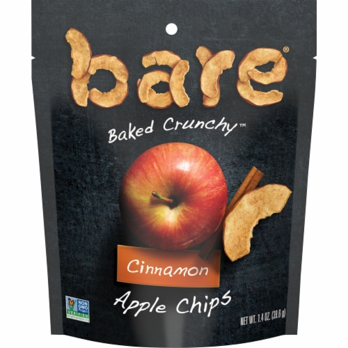Bare Naturally Baked Crunchy Cinnamon Apple Chips Perspective: front