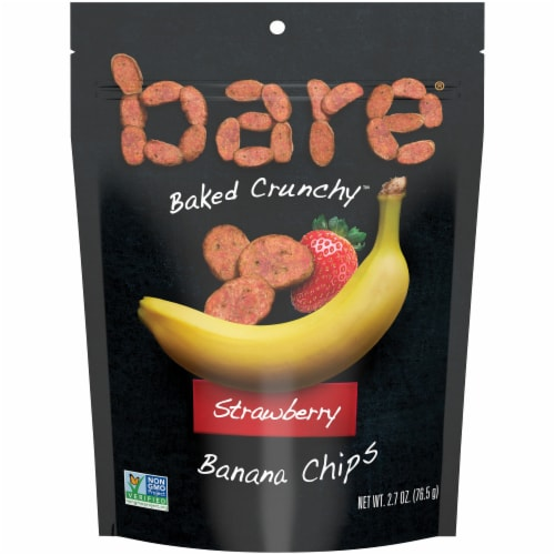 Bare Baked Crunchy Strawberry Banana Chips Perspective: front
