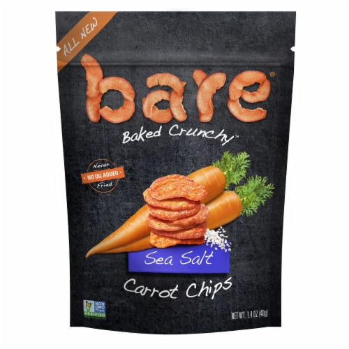 Bare Baked Crunchy Sea Salt Carrot Chips Perspective: front