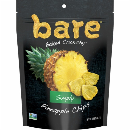 Bare® Baked Crunchy™ Gluten Free Simply Pineapple Chips Perspective: front