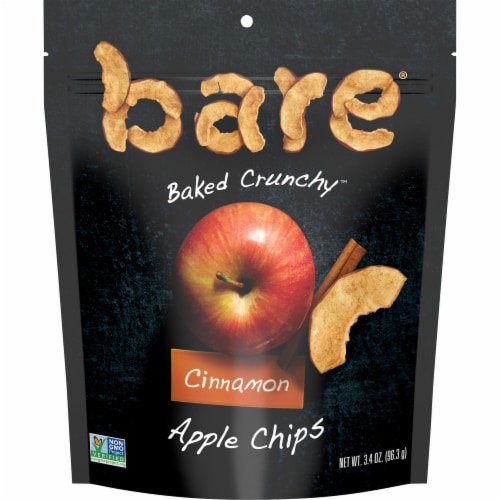 Bare Baked Crunchy Cinnamon Apple Chips Perspective: front