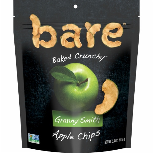 Bare Baked Crunchy Granny Smith Apple Chips Perspective: front