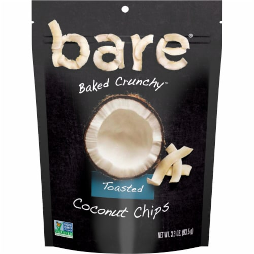 Bare Baked Crunchy Toasted Coconut Chips Perspective: front