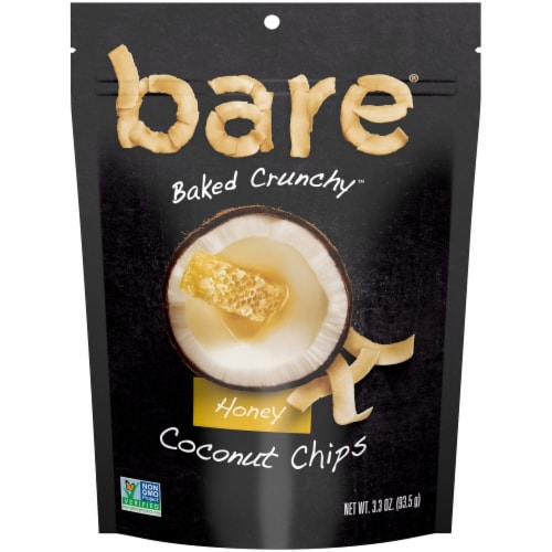 Bare Naturally Baked Crunchy Honey Coconut Chips Perspective: front