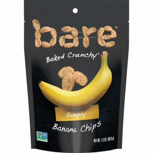 Bare Baked Crunchy Simply Banana Chips Perspective: front